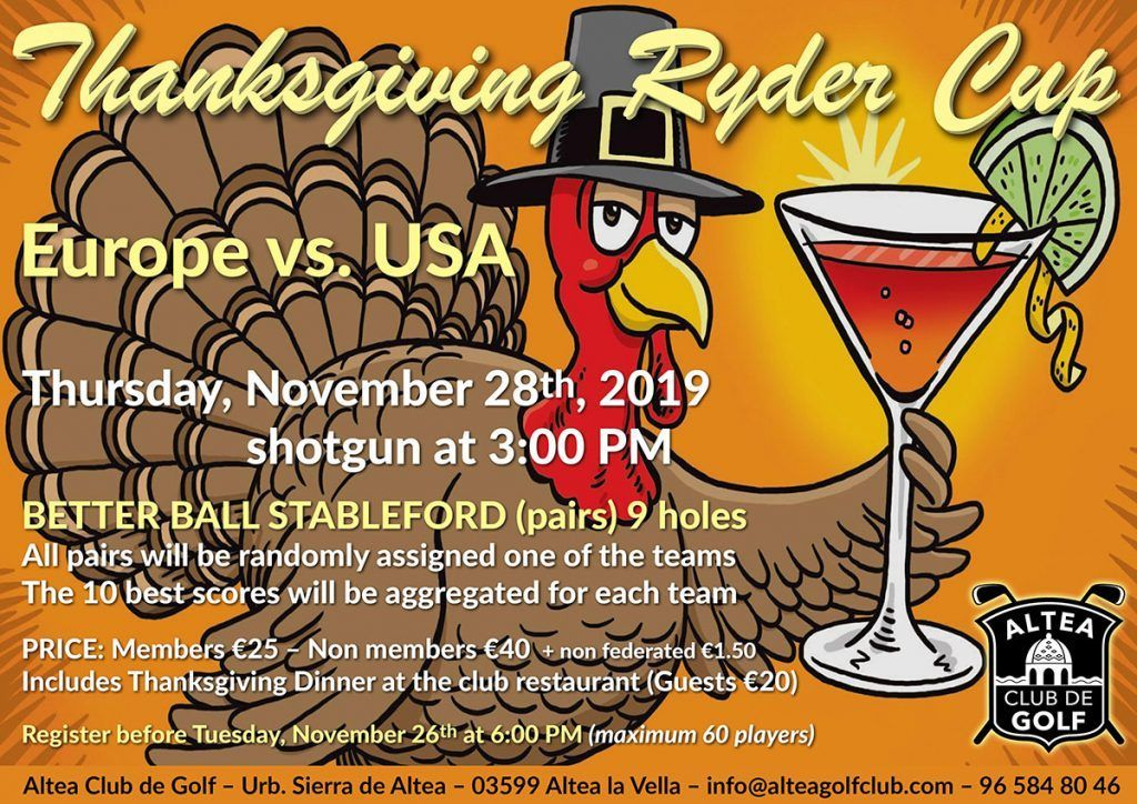 THANKSGIVING RYDER CUP 17