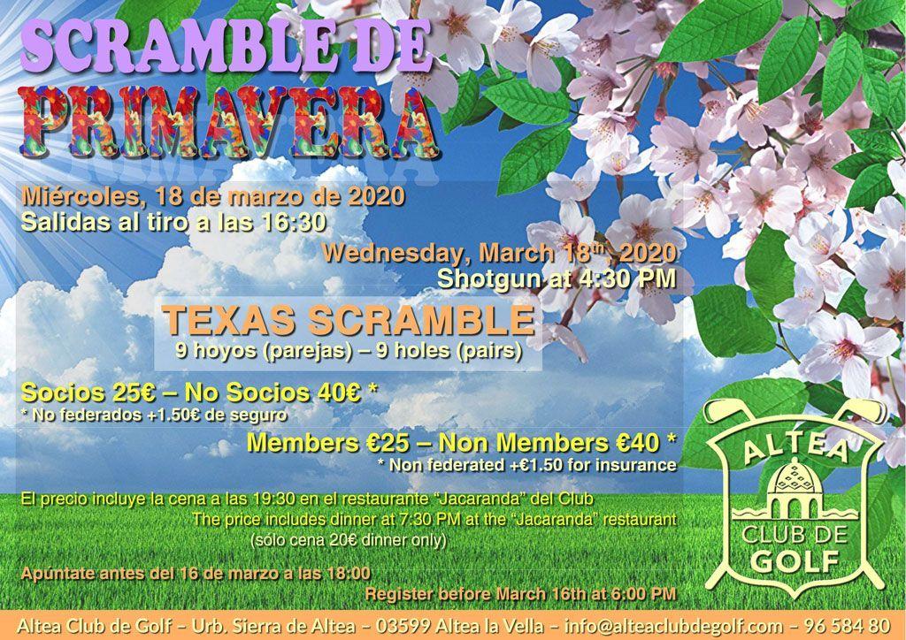 Torneo primavera Altea club de golf